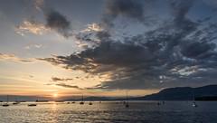 Sunset At English Bay (luke.me.up) Tags: ocean sunset sun water beautiful vancouver clouds nikon englishbay 1635 d810