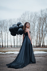 20160405-DSC_7128 (pasairen*) Tags: girls portrait black beautiful balloons model dress