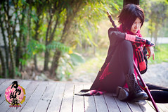 Kiyomitsu Kashuu (bdrc) Tags: portrait house game girl garden japanese 50mm prime cross cosplay bokeh outdoor sony knife theme manual katana nikkor kaori lala bukit jalil f14d ranbu touken kashuu nex6 asdgraphy