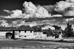 Cascina Cascinino (coachgodzup1) Tags: blackandwhite italy landscape countryside nikon biancoenero lomellina lombardy cascina whiteandblack d3100 cimko135mm