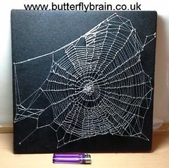 Cobweb Pin Art (Butterfly Brain) Tags: halloween spider web spiderweb cobweb nailart stringart allhallowseve walldecoration pinart halloweencraft blackfelt spookycrafts stringpicture