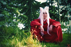 Inuyasha - Axeliste (Kros Photography) Tags: wood party dog green japan nanterre cosplay japon inuyasha axeliste