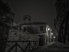 Old Italian street, night view (A.Husvaer) Tags: street old city bw italy night historic samyang12mmf2