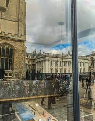 Cambridge Window (photowarrington) Tags: cambridge england abstract reflection apple shop retail streetphotography busy smartphone cambridgeshire iphone