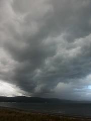 Sweep of cloud (Fraser P) Tags: sea newzealand beach weather cafe harbour wellington petone lowerhutt