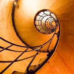 spiral to heaven (jaumescar) Tags: old light urban orange abstract paris color beautiful up lines architecture stairs composition floors canon square spiral person nice lowlight poetry view geometry interior low arc triomphe intriguing swirl form pow curve shape catchy leading enhanced eyecatching ruleofthirds