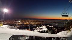 (B Random) Tags: winter sunset mountain snow vancouver season fun snowboarding downtown phone view grouse samsung nighttime nightlife s6 brithshcolumbia