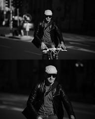 [La Mia Citt][Pedala] (Urca) Tags: portrait blackandwhite bw bike bicycle italia milano bn ciclista biancoenero mir bicicletta 2015 pedalare dittico nikondigitale ritrattostradale 82262