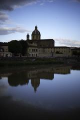 Chiesa del Cestello (VioletHippie) Tags: sky cloud love florence nuvole fiume chiesa firenze arno amore paesaggio specchio riflesso curch cestello