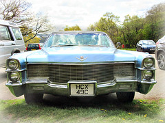 1965 Cadillac  Coupe de ville - Head on (John(cardwellpix)) Tags: uk corner de sunday surrey cadillac april guildford 24th coupe sundays ville newlands 1965 albury 2016 merrow