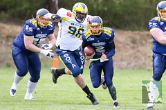 "GFL2 Hildesheim Invaders vs. Assindia Cardinals (Testspiel) 24.04.2015 016.jpg • <a style=""font-size:0.8em;"" href=""http://www.flickr.com/photos/64442770@N03/26647798706/"" target=""_blank"">View on Flickr</a>"