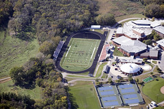 2010-09-29 Aerial View of AHS Football Field, AHS Gymnasium and Ames High School pool, tennis courts and courtyard w permission Snyder & Associates Inc (ameshighschool) Tags: school field football rooftops iowa aerial highschool ames birdseyeview 2010 ahs amesiowa ameshighschool ahsaa ameshigh 2010sep ameshighschoolalumniassociation 2010ahs ahs2010 ameshighclassof2010