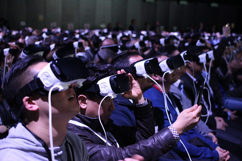 Samsung's Virtual Reality MWC 2016 Press by pestoverde, on Flickr