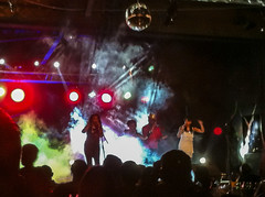 Bright Lights and Smoke Screen - 5th Sep 2015 (princetontiger) Tags: lights concert stage smoke singer stagelights colouredlights