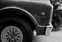 1972 Chevrolet c10 (Sultan -bin-Ahmed) Tags: leica blackandwhite bw chevrolet film monochrome car 50mm blackwhite outdoor scanner indoor apo filter 350 ii vehicle f2 20 m3 1972 cms v8 x5 c10 adox imacon flextight 8000dpi