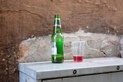 Urban still life (Stiginho) Tags: beer wall bottle alley drink smug bergen