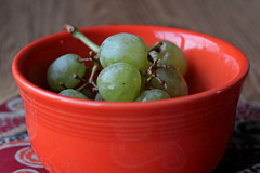 More grapes (girlinpinkflipflops) Tags: fruit bowl grape fiestaware