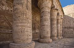 Second Court, Mortuary Temple of Ramses III, Medinet Habu, Egypt (bfryxell) Tags: egypt column luxor thebes medinethabu secondcourt mortuarytempleoframsesiii necropolisofthebes