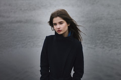 Jeanne (ivankopchenov) Tags: light portrait lake cold water girl hair natural wind outdoor young