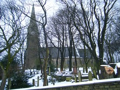 St. Thomas's Church, Helmshore, Rossendale,Lancashire (rossendale2016) Tags: door old trees england snow money cold tower clock church window water glass weather saint st electric stone wall choir table lights mirror wooden high hands ancient wine wind time bell thomas pipes rail plate books cock graves steeple baptism stained altar spire collection organ masonic font bible weathervane peel vane themed psalms pointing came fishes picturesque hymn communion speakers pews pulpit heating stalls earphones vicar thomass photogenic cockerel rossendale helmshore musbury