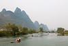 Yulong River (Bridgetony) Tags: china haze asia southeastasia guilin yangshuo karst rafts guanxi asiapacific