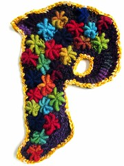 The Letter P (freeform by prudence) Tags: crochet p freeform scrumbling prudencemapstone crochetbullionstitch