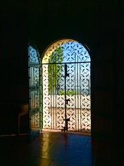 Ornate arched door of the Convento de la Popa (peggyhr) Tags: door reflections colombia cartagena ipad thegalaxy peggyhr conventodelapopa ornatewroughtiron level1photographyforrecreation thegalaxyhalloffame thelooklevel1red thelooklevel2yellow thelooklevel3orange thelooklevel4purple thelooklevel5green thelooklevel6blue