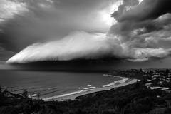 Storm over Bungan (Adrian Tischler) Tags: clouds blackwhite stormclouds bungan