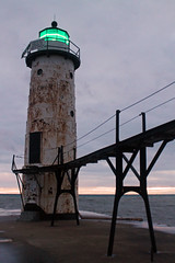 I Am Electric (IAmnotHamlet) Tags: summer lighthouse history beach water outdoors michigan lakemichigan maritimehistory
