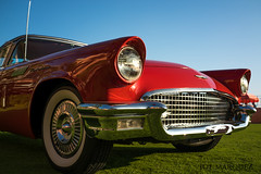 Red 1957 Ford Thunderbird with Sony Rx1rm2 _DSC5957 (The Smoking Camera) Tags: auto red classic ford car vintage hawaii waikiki sony 1957 thunderbird royalhawaiian ford1957 rx1r rx1rii rx1rm2