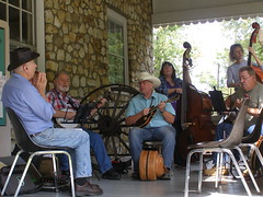 Old-Time Music on the Porch (mystuart) Tags: music mountains men fall museum nc women bluegrass bass guitar folk country culture mandolin banjo guys porch harmonica blueridge oldtime makingmusic oldfort