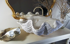Gold Sink 3 (LittleGems AR) Tags: ocean sea sculpture sun beach home statue stone giant bathroom shower gold aquarium soap sand bath crystals hand contemporary unique decorative shell craft style toilet towel clam basin special clean shampoo taps wash ornament gift present pearl reef spa figures gems opulent gem fossils oneoff clamshell mollusks cloakroom bespoke personalised tridacna sculpt crafted gigas facetowel