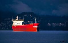 Tanker Bite (Clayton Perry Photoworks) Tags: winter canada vancouver boat ship bc spanishbanks tanker locarnobeach explorebc explorecanada arcticnordicoasis