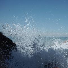 Pollack at Westward Beach (elevatoro) Tags: ocean california blue sky west beach water coast waves pacific rad sunny malibu serene splash beachy scouting justinleibow elevatoro