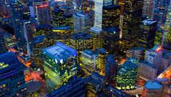 High rise (snowyturner) Tags: city longexposure toronto ontario night buildings lights skyscrapers aerial