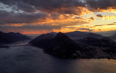 Sunset and view... (Alex Switzerland) Tags: sunset canon landscape eos schweiz switzerland tessin ticino tramonto suisse svizzera paysage landschaft lugano paesaggio 6d luganese ceresio luganersee
