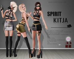 SPIRIT & KITJA - Spy Outfit () Tags: life original spirit lara second physique hourglass c88 maitreya slink kitja collabor88 fittedmesh