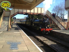 GLOUCESTERSHIRE WARWICKSHIRE RAILWAY 7903 FOREMARKE HALL TODDINGTON 23042013 (MATT WILLIS VIDEO PRODUCTIONS) Tags: hall railway gloucestershire warwickshire toddington 7903 foremarke 23042013
