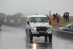 legends fire rally 2016 | Land Rover | P331 HBC | (Jgalea14) Tags: people white beach water glass car wheel sport canon fire lights mirror rally rover turbo add round land physics legend blackpool rotary raf spraying fleetwood gril 2016 100d