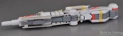 Mechanicore - Tief Sturmer Review - Main Gun and Radar 8 (MT Falldog) Tags: gundam gunpla deepstriker gundamsentinel mechanicore tiefstrmer