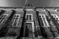 (PiotrTrojanowski) Tags: door blackandwhite bw architecture contrast main poland cracow 10mm