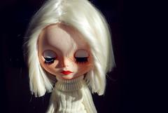 Light (MomoDollCrafts) Tags: portrait white haircut alpaca hair doll bob clothes wig vanilla blythe custom simply collector blythedoll repaint faceup eyechips simlyvanilla
