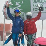 Rio Tinto Nancy Greene Ski League - Tyee Cup 2016 Overall Winners Dylan Stevens (Grouse Mountain Tyee Ski Club) and Sara Stiel (Whistler Mountain Ski Club)