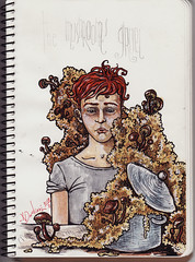 Colour Sketch (Nikoloz Dadiani) Tags: people art coffee cat sketchy painting ginger sketch artist transport goat sketchbook redhead posters watercolour characters whore everydaylife urbanlife sexworker sexywoman coloursketch სკეტჩები nikolozdadiani ნიკოლოზდადიანი