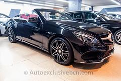 Mercedes-Benz Clase E 250 Cabrio *AMG PLUS* - 211c.v - Negro Obsidiana - Piel Rojo Bengala