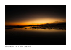 Worth Getting Up For... (RonnieLMills) Tags: lighthouse wet sunrise reflections dawn sand harbour pre donaghadee maxcarnson