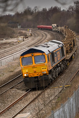 GBRf Class 66/7 no 66729 at Clay Cross on 22-03-2016 with the Doncaster to Toton Engineers train (kevaruka) Tags: uk greatbritain england colour composition train canon march flickr colours unitedkingdom derbyshire trains telephoto 5d locomotive frontpage freight freighttrain 2016 freightliner class66 class73 claycross gbrf canon5dmk3 5dmk3 5d3 kevinfrost 5diii canon70200f28ismk2 canoneos5dmk3 ilobsterit telephototrains