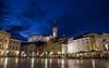 Tartini Square (Joe Parks) Tags: travel evening europe dusk slovenia venetian bluehour piran slovenija stgeorge adriatic twlight tartinijev pirano tartini stgeorgechurch tartinisquare canon6d churchofsaintgeorge guiseppetartini parksjd
