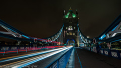 Long Exposure (uwe_neuber) Tags: city longexposure bridge england london english night lights pentax nacht sigma brcke englisch traffictrails lzb