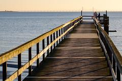 By the sea (Hkan Dahlstrm) Tags: bridge sea people beach photography se pier skne sweden cropped f80 resund 2016 lomma skneln xe2 xf1855mmf284rlmois sek 3715032016173610